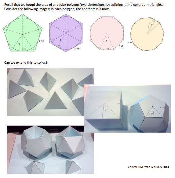 3-D extension of dividing a polygon into triangles.