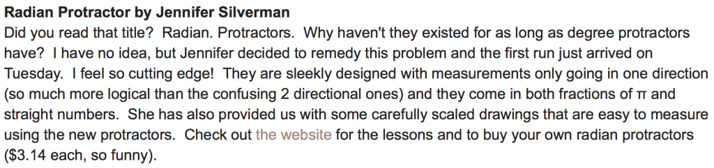 A Review From a Math Teacher's Blog After NCTM in 2012